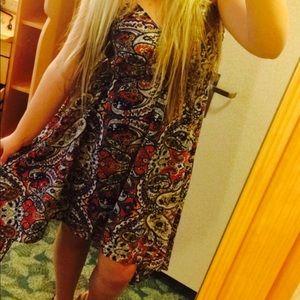 Patterned silky dress